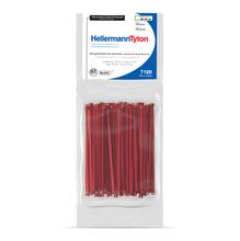 Abraçadeira Flexivel de Nylon 2,5mm Vermelho  Hellermann