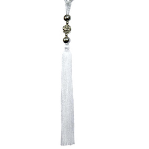Abraçadeira para Cortina 65cm Flor Branca Luba