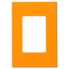 Acabamento para placa 4X2 3 mod laranja Simon Play