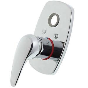 """Acabamento Monocomando com desviador para Chuveiro Pressão Pequeno Civic 3/4"""" - 1/2"""" Cromado A-2994-CI Fabrimar"""