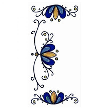 Acabamento para Número 7x15cm Cerâmica Branco e Azul Gabriella