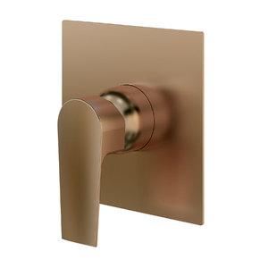 """Acabamento para Registro Monocomando para Ducha Quadrado Rose Gold 3/4"""" Fani"""