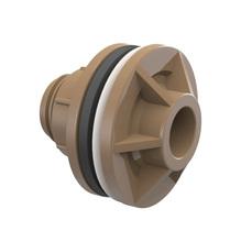 """Adaptador com Anel Marrom PVC Soldável 50mm ou 1.1/2"""" Plastilit"""