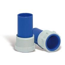 Adaptador Mangueira Plástico 10x5cm Azul/Branco CMB Aqua