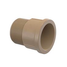 """Adaptador Marrom PVC Roscável e Soldável 40mm ou 1.1/4"""" Plastilit"""