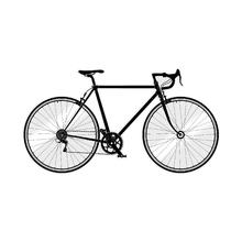 Adesivo Bicicleta Industrial 115x62cm Preto Inspire