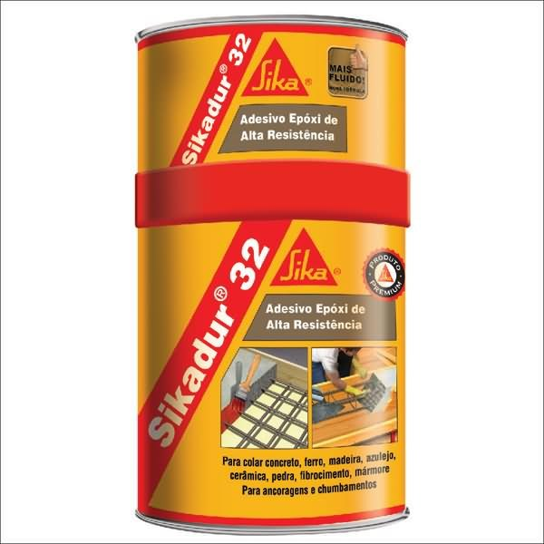 Adesivo resina ep xi flu do cinza claro sikadur 32 lata for Resina epoxi leroy merlin