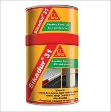 Adesivo Resina Epoxi Tixotrópico Cinza Escuro Sikadur 31 Lata 1 kg Colagem Concreto Metais