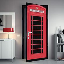 Adesivo de Porta Cabine Vermelho 82x210cm