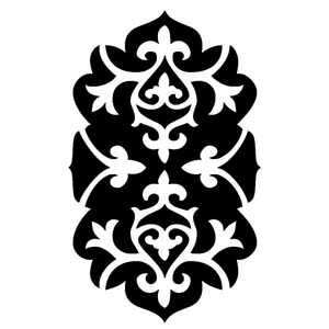Adesivo Decorativo Arabesco Preto 22x30cm Kapos