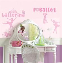 Adesivo Decorativo Ballet Rosa 25x45cm