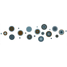 Adesivo Decorativo Bolas Azul 60x40cm