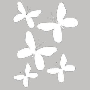Adesivo Decorativo Borboletas Branco 22x30cm Kapos