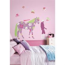 Adesivo Decorativo Cavalo Colorido 128x114cm