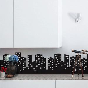 Adesivo Decorativo Cidadela Preto 131x98cm