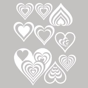 Adesivo Decorativo Corações Branco 22x30cm Kapos