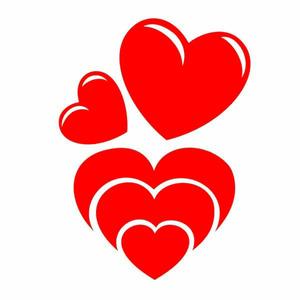 Adesivo Decorativo Corações Vermelho 22x30cm Kapos