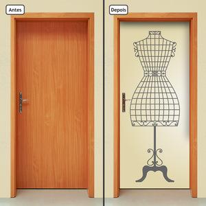 9f90b7788 Adesivo Decorativo de Porta - Manequim de Costura - 1520cnpt