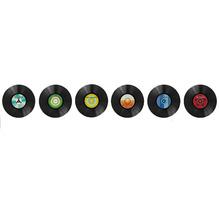 Adesivo Decorativo Disco Vinil Colorido 60x40cm