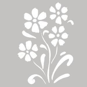 Adesivo Decorativo Flores Branco 22x30cm Kapos