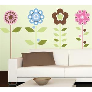 Adesivo Decorativo Flores Colorido 46x102cm