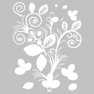 Adesivo Decorativo Folhas Branco 40x50cm Kapos