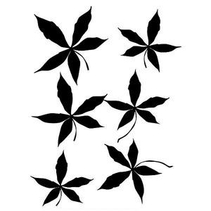 Adesivo Decorativo Folhas Preto 22x30cm Kapos