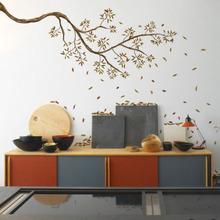 Adesivo Decorativo Galhos de Outono Marrom 120x60cm