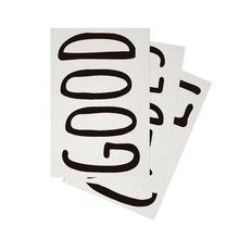 Adesivo Decorativo Good Vibes 20x30cm Preto