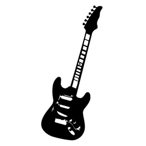 Adesivo Decorativo Guitarra Preto 50x100cm Kapos