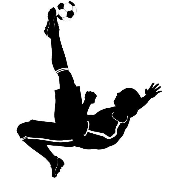Artesanato Junino ~ Adesivo Decorativo Jogador de Futebol Preto 40x100cm Leroy Merlin