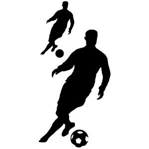 Adesivo Decorativo Jogador de Futebol Preto 50x100cm Kapos