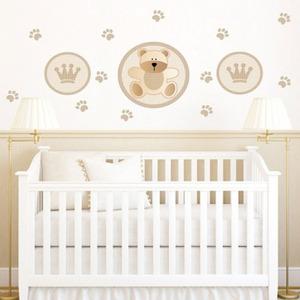 Adesivo Decorativo King Baby Bear Bege 131x60cm