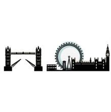 Adesivo Decorativo Londres Preto 131x32,4cm