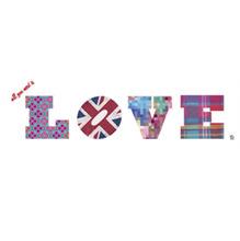Adesivo Decorativo Love Fashion Colorido 60x40cm
