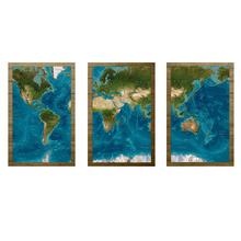 Adesivo Decorativo Mapa 60x30cm Multicolorido