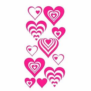 Adesivo Decorativo Multi Corações 50x100cm Rosa Kapos