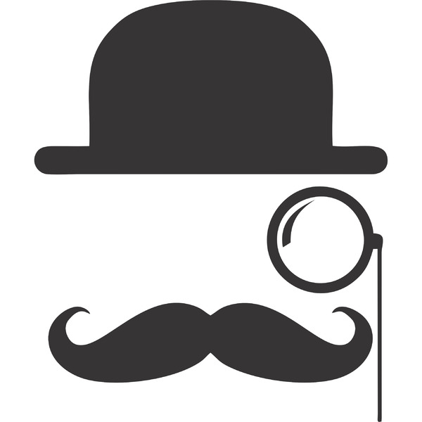 Descreva Artesanato Manufatura E Maquinofatura ~ Adesivo Decorativo Mustache 22x30cm Leroy Merlin