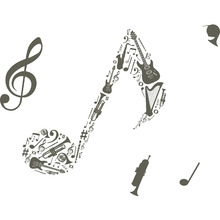 Adesivo Decorativo Nota Musical 40x50cm