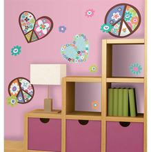 Adesivo Decorativo Peace and Love Colorido 102x46cm