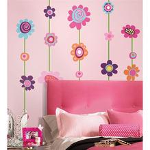 Adesivo Decorativo Pêndulo Flores Colorido 46x102cm