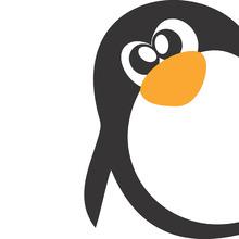 Adesivo Decorativo Pinguim Preto 22x30cm