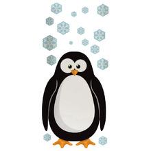 Adesivo Decorativo Pinguim Preto 40x60cm