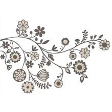 Adesivo Decorativo Ramalhetes Preto 120x98cm