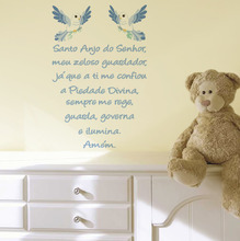 Adesivo Decorativo Santo Anjo Azul 40x60cm
