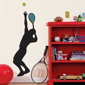 Adesivo Decorativo Tennis Preto 32,4x131cm
