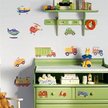 Adesivo Decorativo Transportes Colorido 100x180cm