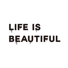 Adesivo Life Is Beautiful Industrial 90X32cm Preto Inspire