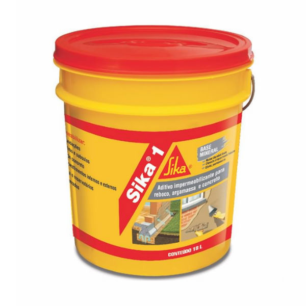 Aditivo impermeabilizante sika 1 balde 18l sika leroy merlin for Impermeabilizante para estanques de agua