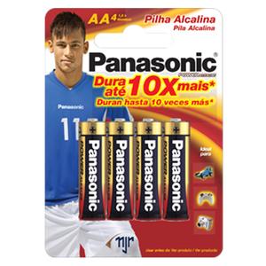 Alcalina Pequena  AA  c/ 4 - Pilhas Colecionáveis do Neymar Jr.